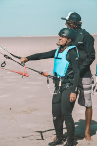 Pilotage de l'aile de kitesurf
